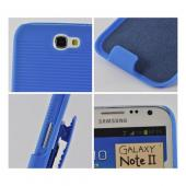 Blue Rubberized Hard Case and Holster Combo w/ Kickstand for Samsung Galaxy Note 2