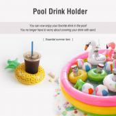 Pink Flamingo Inflatable Drink Holder [2 Pack]