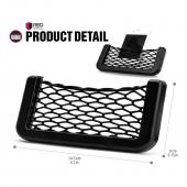 Black Car Net Bag Phone Holder Storage Pocket Organizer [2PK] [Also great for wallet, keys, pens, and MORE!]