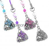 Purse with Cubic Stones Charm - blue