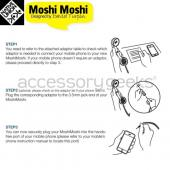 """MoshiMoshi"" Retro Soft Touch Telephone Handset for Cell Phones, (3.5mm) Audio Jack - Black"