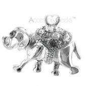 Sparkling Cubic Stone Elephant Cell Phone Charm - clear