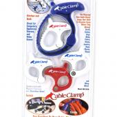 CableClamp Reusable Medium 5-Pieces Clamp Combo Set (1 Blue, 3 White, 1 Red)