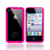 Original iLUV EDGE Apple Verizon/ AT&T iPhone 4, iPhone 4S Bumper Silicone Trim Case w/ Dual Protective Films, ICC700PNK - Pink