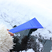 Mini Ice Scraper, Durable Chisel For Scraping Frost & Ice From Car & Truck Windows & Windshields [Blue]