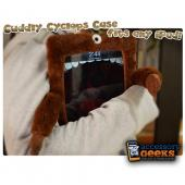 Original iLoveHandles Cyclops Apple iPad (All Gen.) Case w/ Microfiber Screen Cleaner Pads - Brown Cyclops