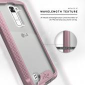 LG K10 Case, ION Single Layered Shockproof Protection TPU & PC Hybrid Cover w/ Tempered Glass [Rose Gold/ Clear]