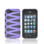 AT&T/ Verizon Apple iPhone 4, iPhone 4S Fusion Candy Case - Purple/ Black