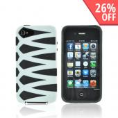 AT&T/ Verizon Apple iPhone 4, iPhone 4S Fusion Candy Case - White/ Black