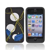 Original EZ Capes Apple iPhone 4 Silicone Case, IP4-LFBK - Leaf Design on Smoke