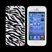 Apple iPhone 5/5S Essential Zebra Bundle w/ Silver & Black Hard Case  Black & White Crystal Silicone Case  Hot Pink & Baby Pink Zebra Cases & Mirror Screen Protector