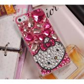 Hello Kitty w/ Light Pink Jewels Clear Hard Case for Apple iPhone 5/5S