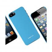 Apple iPhone 5 Vital Bundle w/ Rearth Slim Blue Rubberized Hard Case & Clear Screen Protector