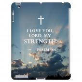 Geeks Designer Line (GDL) Bibles Series Apple iPad 2/3 Slim Hard Back Cover - Psalm 18:1