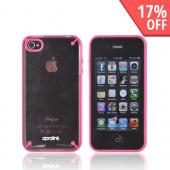 Original Aprolink AT&T/ Verizon Apple iPhone 4, iPhone 4S Fusion Dual Shell Hard Case, IPF-406-02 - Hot Pink/ Transparent Pink
