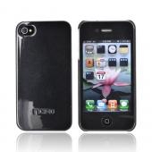 Original Incipio Apple Verizon/ AT&T iPhone 4, iPhone 4S Ultra Thin Feather Hard Case w/ 2 Screen Protector, IPH-516 - Pearl Metallic Black