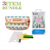 Apple iPhone 4 Bundle Package - Dooney & Bourke Universal Pouch, Mirror Screen Protector & iLuv In-Ear Clip Headset - (Fashionista Combo)