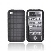 Original Speck Apple iPhone 4 Pixelskin Silicone Case, IPH4-PXL-A02-A - Pixel Square Texture Black