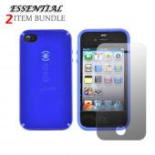 Apple iPhone 4 Combo w/ Speck CandyShell Case & Premium Screen Protector - Blue