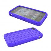 Apple iPhone 4 Combo w/ Speck Pixelskin Silicone Case & Premium Screen Protector - Pixel Square Texture Purple