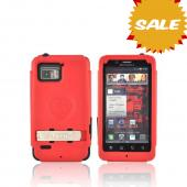 Original Trident Kraken Motorola Droid Bionic Hard Case Over Silicone w/ Screen Protector, Kickstand, & Belt-Clip, KKN2-BIO-RD - Red/ Black