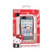 Original Hello Kitty AT&T Apple iPhone 4 Hard Back Cover Case, KT4488R4 - Hello Kitty on Red