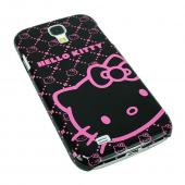 Original Baby Pink Hello Kitty on Black Hard Case for Samsung Galaxy S4 - KT4490BK4