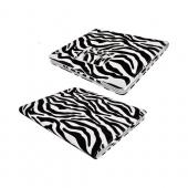 Apple iPad 2, New iPad Leather Stand Case w/ Magnetic Closure - Black/ White Zebra