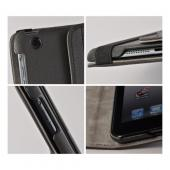 Black/ Gray Hard Case w/ Flip Cover, Rotatable Shield Stand & Card Slots for Apple iPad Mini