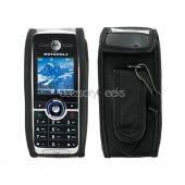 Motorola C168 Leather Case - Black