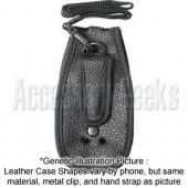 Motorola V360 Black Leather Case