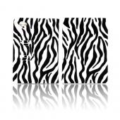Samsung Galaxy Tab 7.7 4G LTE Leather Stand Case w/ Magnetic Closure - Black/ White Zebra