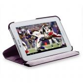 Purple Faux Leather Case Stand w/ Rotatable Shield for Samsung Galaxy Tab 2 7.0