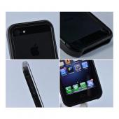 Premium Black Aluminum Bumper Case w/ Slide-On Front for Apple iPhone 5/5S