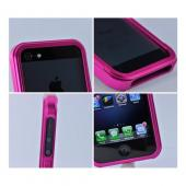 Apple iPhone SE / 5 / 5S Bumper Case,  [Hot Pink]  Premium Aluminum Bumper Case w/ Slide-On Front