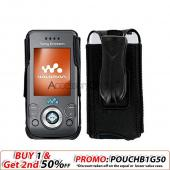 Sony Ericsson W580i Nylon Case Cover - All Black