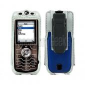 Motorola SLVR L6 / L7 Blue with Silver Trim Cyber Case