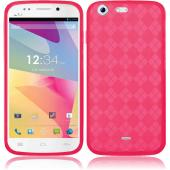 Argyle Pink Crystal Silicone TPU Skin for Blu Life One