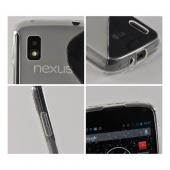 Clear S Design Crystal Silicone Case for LG Google Nexus 4