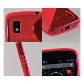 Pink S Design Crystal Silicone Case for LG Google Nexus 4