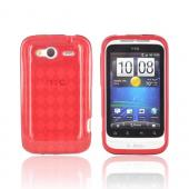 T-Mobile HTC Wildfire S Crystal Silicone Case - Argyle Red