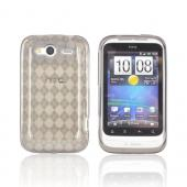 T-Mobile HTC Wildfire S Crystal Silicone Case - Argyle Smoke