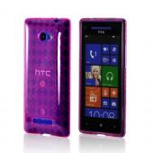Hot Pink Argyle Crystal Silicone Case for HTC 8X