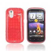 HTC Amaze 4G Crystal Silicone Case - Argyle Red
