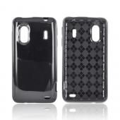 HTC EVO Design 4G Crystal Silicone Case - Black (Argyle Interior)