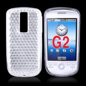 T-Mobile MyTouch 3G Crystal Silicone Case, Rubber Skin - Diamond Pattern Transparent Clear