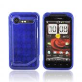 HTC Droid Incredible 2 Crystal Silicone Case - Argyle Blue
