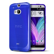 Blue Crystal Silicone TPU Flexible Skin Case for HTC One 2