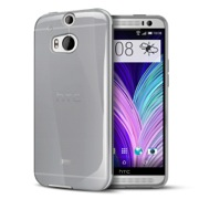 Smoke Crystal Silicone TPU Flexible Skin Case for HTC One 2