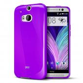REDShield Solid Purple Crystal Silicone Skin TPU Case for HTC One (M8)